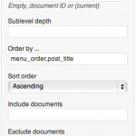 Document Children Widget Settings