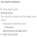 Document Hierarchy Widget Example Output