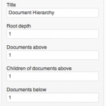 Document Hierarchy Widget Settings