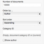 Documents Widget Settings