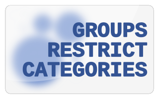Groups Restrict Categories