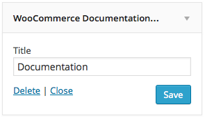 WooCommerce Documentation Widget