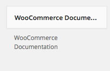 WooCommerce Documentation in Available Widgets