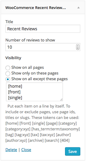 WooCommerce Widget Example