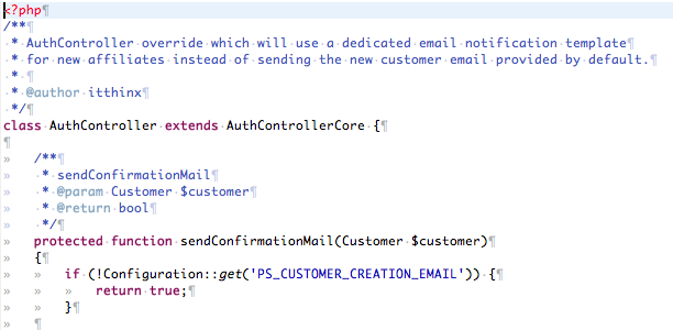 AuthController Override