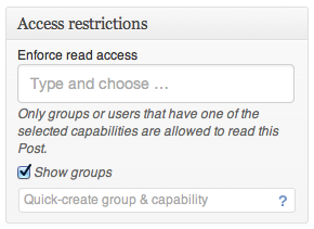 Groups - Access Restrictions