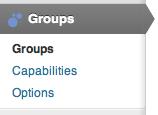 Groups - Menu