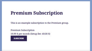 Viewing a Subscription Page