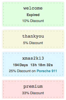 WooCommerce Coupons Countdown Showing Discount
