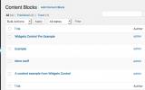 Widgets Control Pro Content Blocks