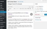 Widgets Control Pro Example Content Block